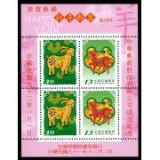 紀290 中華郵政股份有限公司成立紀念小全張